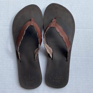 Reef Brown Cushion Sandals Women's Size 11